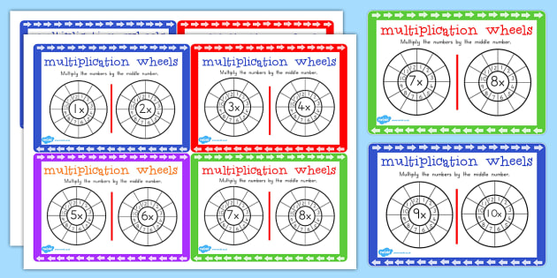 Multiplication Wheels Maths Challenge Cards - australia, maths