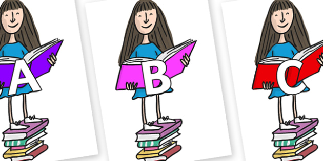 A-Z Alphabet on Matilda to Support Teaching on Matilda - A-Z, A4, display, Alphabet frieze, Display letters, Letter posters, A-Z letters, Alphabet flashcards