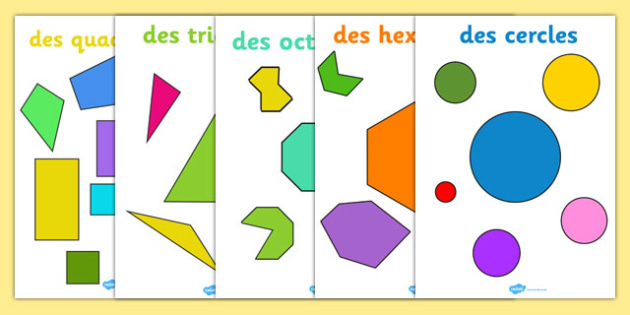 2D Regular and Irregular Shape Posters French - french, 2d, regular, irregular, shape, posters, display