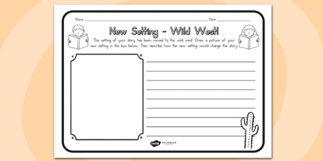 New Setting Wild West Comprehension Worksheet - sheets, setings