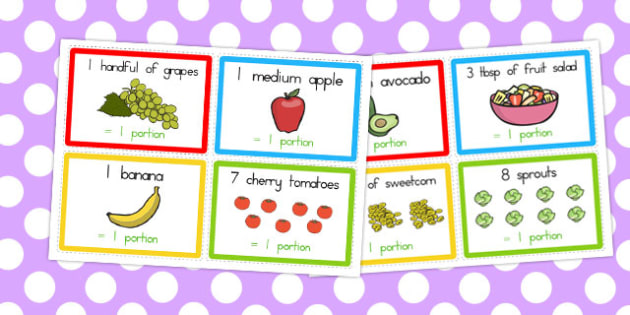 What Counts Towards My 5 a Day Challenge Cards - Count, 5, Fruit
