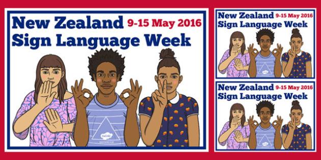 New Zealand Sign Language Week Display Posters - nz, new zealand, sign language, new zealand sign language week, display posters