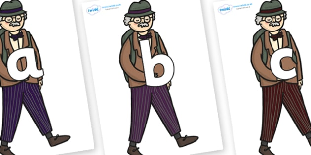 Phoneme Set on Beautys Dad Walking - Phoneme set, phonemes, phoneme, Letters and Sounds, DfES, display, Phase 1, Phase 2, Phase 3, Phase 5, Foundation, Literacy