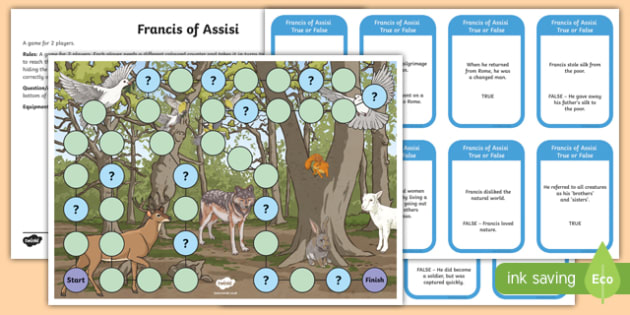 St Francis of Assisi Board Game