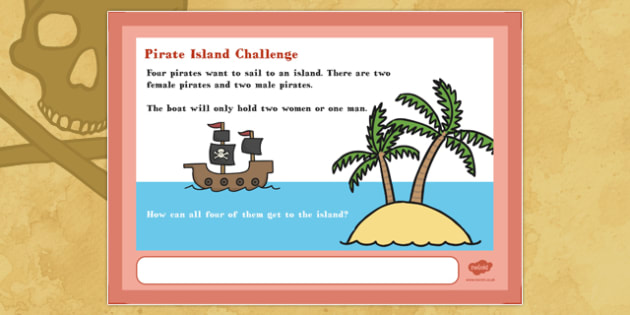 A4 Pirate Island  Maths Challenge Poster - posters, displays