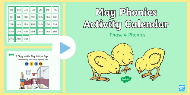 Phase  May Phonics Activity Calendar Powerpoint  Phase  May