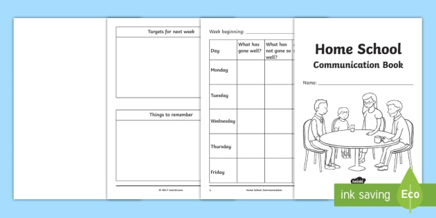 Home School Communication Book Primary - home school, communication, book, primary