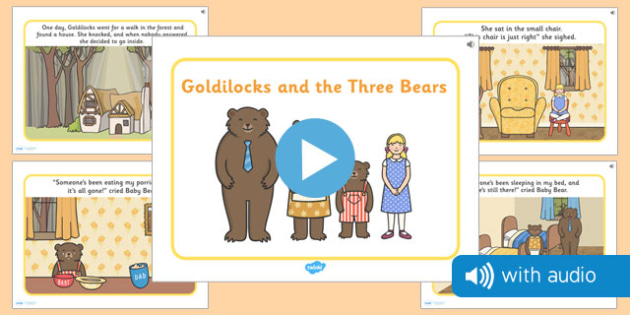 Goldilocks and the Three Bears Narrated Story - traditional tales, 3 bears, EYFS