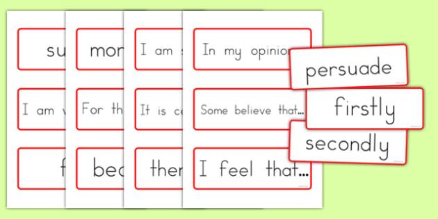 Persuasive Writing Flash Cards - australia, persuasive, writing