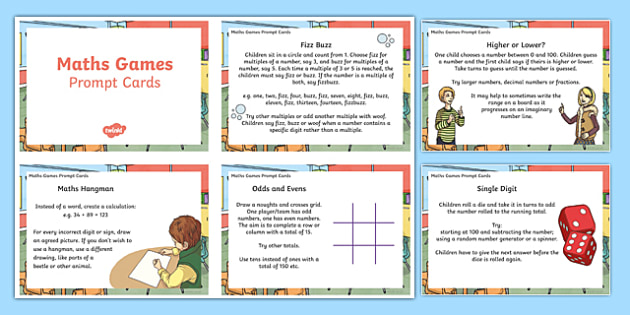 Maths Games with Little or No Equipment Teaching Ideas
