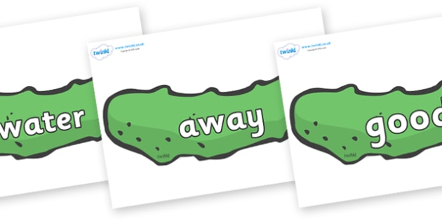 Next 200 Common Words on Pickles to Support Teaching on The Very Hungry Caterpillar - Next 200 Common Words on  - DfES Letters and Sounds, Letters and Sounds, Letters and sounds words, Common words, 200 common words