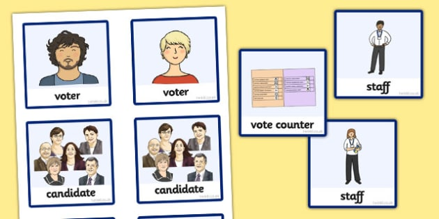 Scottish Elections 2016 Polling Station Role Play Badges - CfE, Scotland, politics, government, parliament, elections, voting