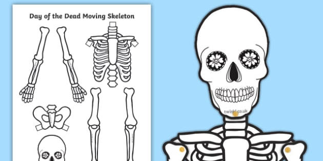 Day of the Dead Split Pin Skeleton Activity