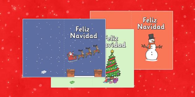 Feliz Navidad Card Templates - feliz navidad, card, templates, christmas, spanish