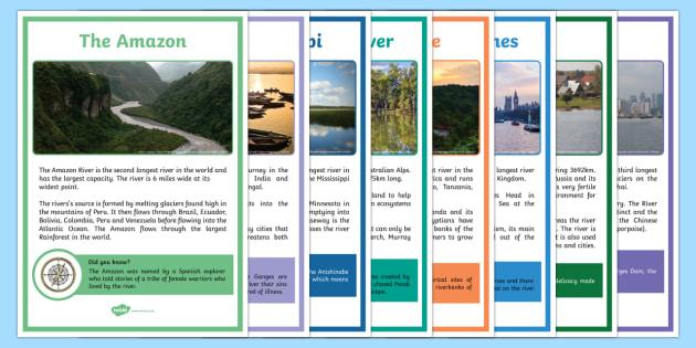 World Rivers Fact Posters - world rivers, world, river, fact