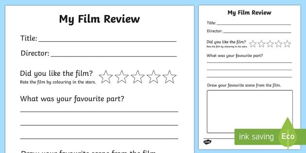 Film Review Writing Frame - film review, film, review, writing frame, write, frame
