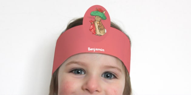 Beatrix Potter - The Tale of Benjamin Bunny Role Play Headband - beatrix potter, benjamin bunny