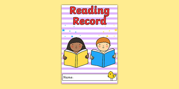 Reading Record Cover - reading, literacy, english, read, record