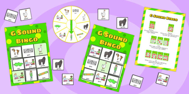 g Sound Bingo Game with Spinner - sounds, sound games, bingo