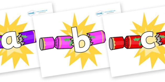 Phoneme Set on Christmas Crackers (Cracking) - Phoneme set, phonemes, phoneme, Letters and Sounds, DfES, display, Phase 1, Phase 2, Phase 3, Phase 5, Foundation, Literacy