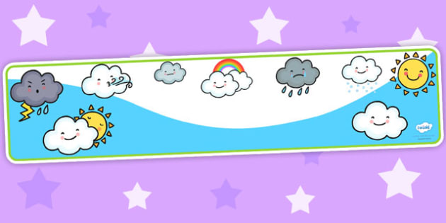 Weather Themed Editable Banner for Publisher - seasons, display