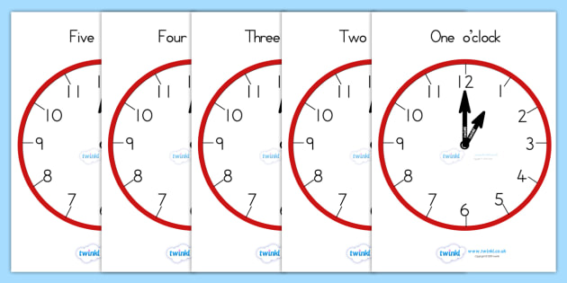 Analogue Clocks Hourly O Clock - clocks, analogue, time, hours