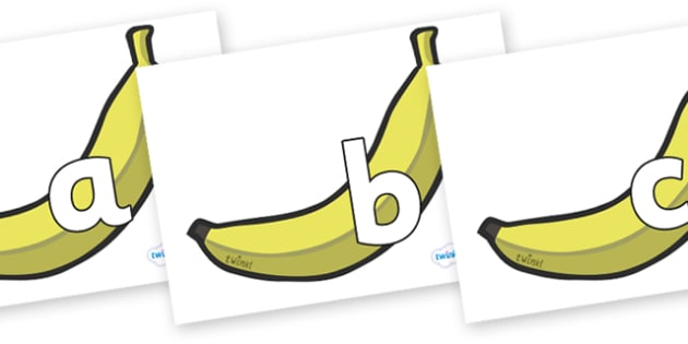 Phoneme Set on Bananas - Phoneme set, phonemes, phoneme, Letters and Sounds, DfES, display, Phase 1, Phase 2, Phase 3, Phase 5, Foundation, Literacy