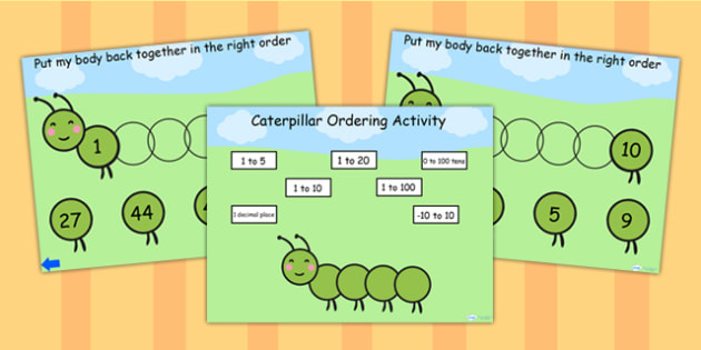 Caterpillar Ordering Flipchart - caterpillar, order, ordering