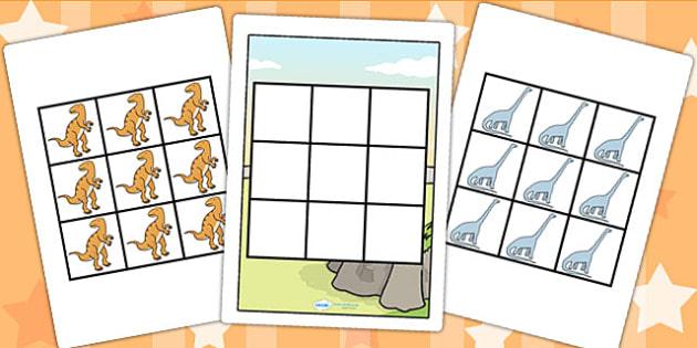 3 in a row Dinosaur Activity - dinosaurs, dinosaur games, games