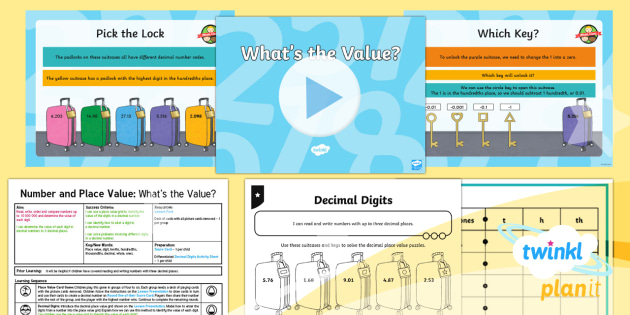 PlanIt Y5 Number and Place Value Lesson Pack Place Value (4) - Number, Place Value, decimal, digit, value, tenths, hundredths, thousandths, Read, write, order and