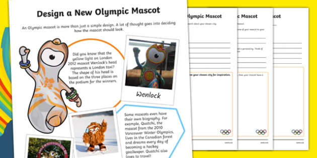 The Olympics -  Create a New Mascot Activity Sheet-Scottish, worksheet
