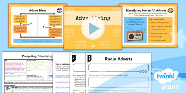 Computing: Radio Station: Advertising Year 5 Lesson Pack 5