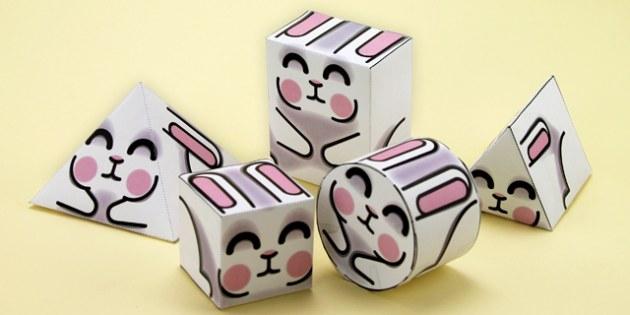 Simple 3D Easter Shapes - simple, 3d shape, easter, 3d, shape, 3d easter shapes