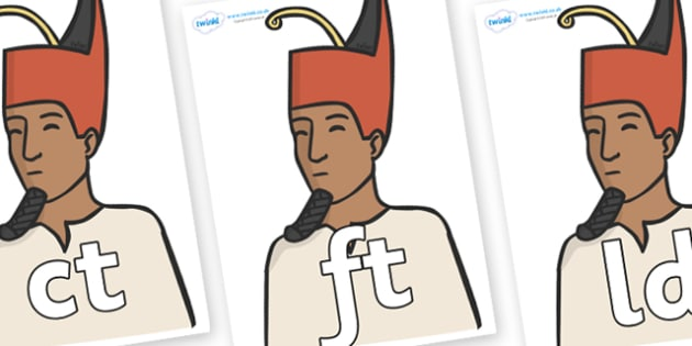 Final Letter Blends on Egyptian Kings - Final Letters, final letter, letter blend, letter blends, consonant, consonants, digraph, trigraph, literacy, alphabet, letters, foundation stage literacy