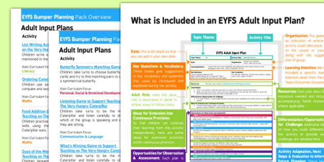 EYFS Bumper Planning Pack to Support Teaching on The Very Hungry Caterpillar Overview - EYFS, Early Years Planning, adult led, Eric Carle, story book