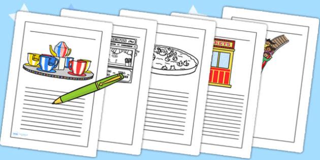 Fairground Writing Frames - fairground, writing frames, frames