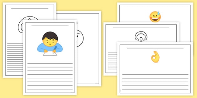Emojis Writing Frames - , moji