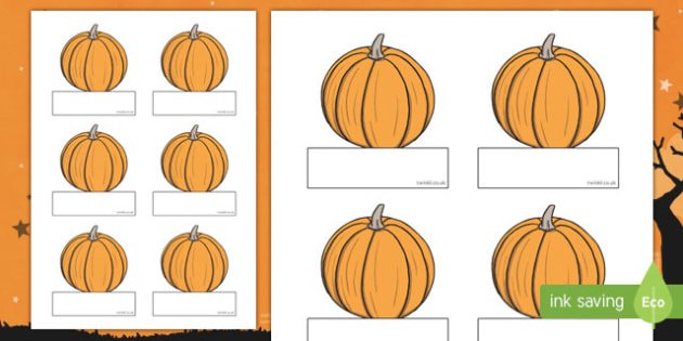 Editable Halloween Pumpkin Self Registration - Halloween, pumpkin, witch, bat, scary, black cat, Self registration, register, editable, labels, registration, child name label, printable labels, mummy, grave stone, cauldron, broomstick, haunted house,