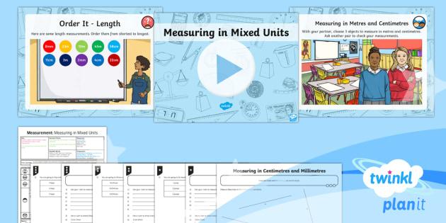 PlanIt Y3 Measurement Lesson Pack Length (4) - Maths, KS2, Lesson Pack, Year 3, measurement, measure, length, millimetre, centimetre, metre, compar