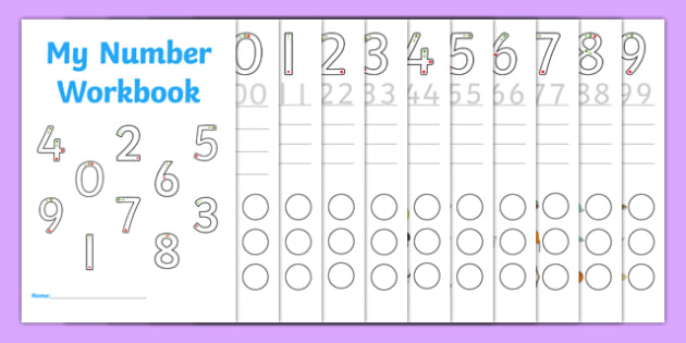 Number Formation 0 to 9 SEN Number Workbook, overwriting
