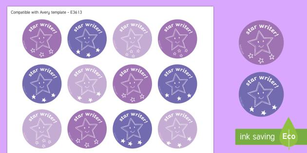 Star Writer Stickers-Scottish - CfE Literacy, reading comprehension strategies, star writer,Scottish
