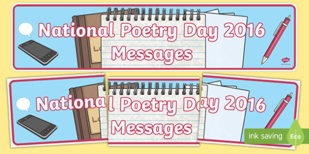 National Poetry Day 2016 'Messages' Banner