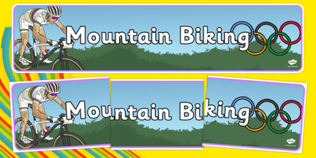 Rio 2016 Olympics Mountain Biking Display Banner - rio olympics, 2016 olympics, rio 2016, mountain biking, display banner