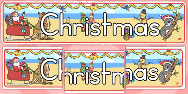 Australian Christmas Display Banner (Australia) - poster, visual
