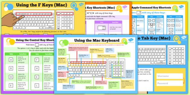 Using the Mac Keyboard Help Posters - ICT, IT, computing, MacBook