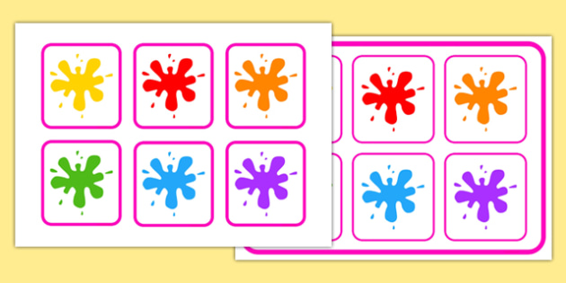 Colours Matching Cards and Board - colours, matching cards, board, matching