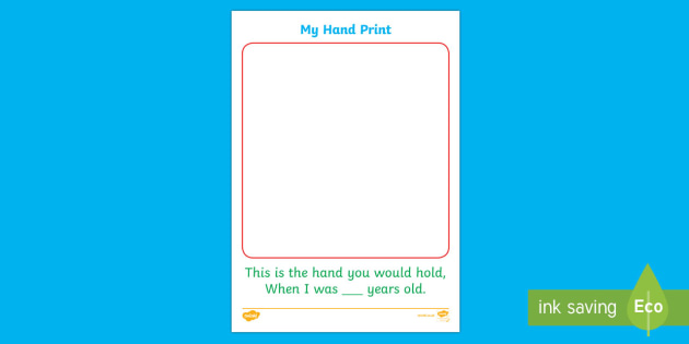 How Old Am I Hand Print Activity Sheet - New Zealand Back to School, hand print, paint, children, age, milestone, worksheet
