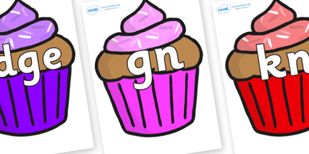 Silent Letters on Cupcakes - Silent Letters, silent letter, letter blend, consonant, consonants, digraph, trigraph, A-Z letters, literacy, alphabet, letters, alternative sounds