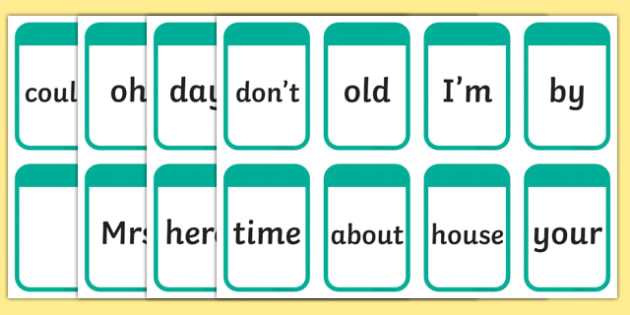 Phase 5 High Frequency Words Flashcards - flashcard, words, word