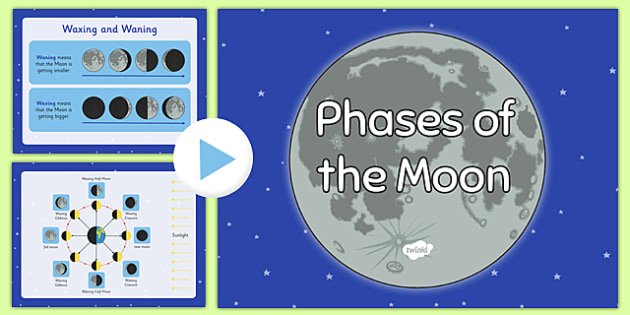 Phases of the Moon PowerPoint - powerpoint, power point, interactive, powerpoint presentation, phases of the moon, the moon, moon, moon phases, moon phases powerpoint, phases of the moon presentation, presentation, slide show, slides, discussion aid,